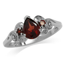 1.36ct. Natural Garnet 925 Sterling Silver Victorian Style Ring