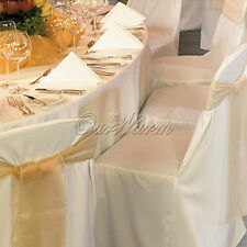 5PCS Universal Satin Chair Covers Wedding Party Banquet Hotel Dinner Sale Decor