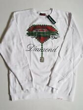 Caddy Caddliac White Crew Sweater DIAMOND SUPPLY Co Company XL XLarge Crewneck