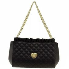 Love Moschino Women's Quilted Double Handle Shoulder Small Satchel Handbag