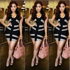 Women Sleeveless Bandage Slim Bodycon Evening Party Cocktail Sexy Mini Dress
