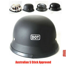 DOT German Motorcycle Cruiser Bike Scooter Chopper Open Face Half  Helmet