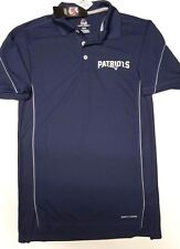 NEW ENGLAND PATRIOTS MAJESTIC DRI FIT GOLF SHIRT POLO NEW PICK SIZE NAVY BLUE
