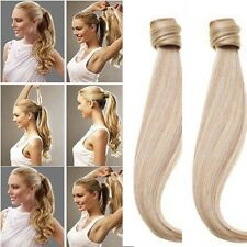Clip In Ponytail Pony Tail Hair Extensions Clip On Hair Piece For Human Hair FM5
