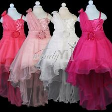 Flower Girl Princess Dress Kid Bow Party Pageant Wedding Bridesmaid Tutu Dresses
