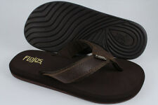 FLOJOS COLETTE II FLAT THONG SANDALS BROWN LEATHER FLIP FLOPS US WOMENS SIZES