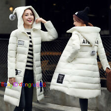 Hot! Winter Korean Women cotton coat Long Hooded A-Line padded jacket Coat Parka
