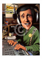 ALAN PARTRIDGE art print caricature A3/A4 sizes signed artwork drawing