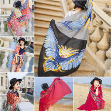 Women Ladies Floral Ethnic Style Large Scarf Beach Head Sarong Wrap Shawl Summer