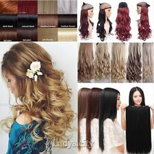 BEST Real Cheap Clip In Hair Extensions Half Full Head Brown Blonde Hairpiece MZ