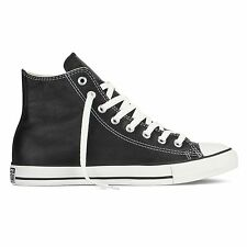 Converse - Chuck Taylor Leather Black All Star HI Shoes Black Leather
