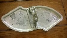 Hand Wrought Aluminum, Rodney Kent, Handled serving tray -Tulips  #462