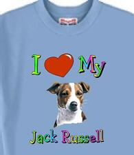 T Shirt Big Dog  I Love My Jack Russell  5 Colors # 886 Men's Women Adopt Rescue