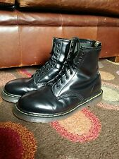 Original Made in England 1480 Dr.Martens 8 Hole Black Leather Boots.Size 9 VGC.