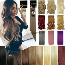 Mega Thick 100% New Half Full Head Clip In Hair Extensions One Piece Brown Black