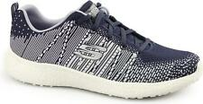 Skechers BURST-ELLIPSE Ladies Womens Sports Fitness Lace Up Trainers Navy/Multi