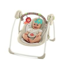 NEW Bright Starts Comfort & Harmony Compact Portable Swing Cozy Kingdom Baby