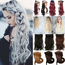 1Pcs Real Thick Clip In Hair Extensions Straight Curly Wavy New 3/4Full Head f1t