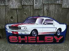 Carroll Shelby Ford Mustang GT 350 Tin Metal Garage Shop Car Auto Sign Mancave