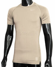 new-nike-mens-pro-cool-compression-shirt-combat-sand-desert-khaki