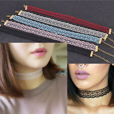 Vintage Gothic Color Lolita Lace Choker Collar Necklace Jewelry Retro Fashion