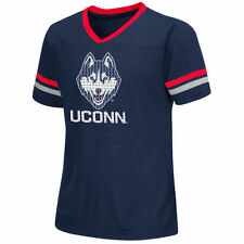 UConn Huskies Colosseum Girls Youth Titanium T-Shirt - Navy - College