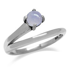 Chalcedony 925 Sterling Silver V Shape Solitaire Ring