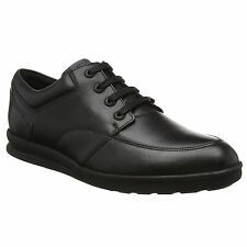 MENS KICKERS TROIKO LACE UP BLACK LEATHER LIGHTWEIGHT SCHOOL SHOES SIZE 6.5 – 11