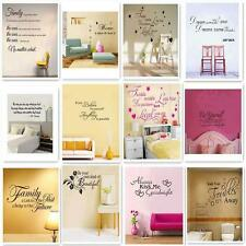 Removable Art Vinyl Wall Sticker Decal Mural Home Room Decor Quote Word Poem o9