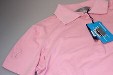 PGA Ladies QuickDry S Sleeved Golf Polo Shirt Pale Pink 10/12 14/16/18 Cotton Mx