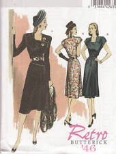 PATTERN RETRO '46 Style misses DRESS & Belt 6-12 or 14-22 b5281 sewing NEW sew
