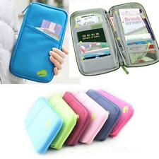 Travel Passport Credit ID Card Holder Cash Wallet Organizer Purse Wallet Bag o2