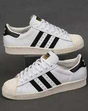 Adidas Originals - Adidas Superstar 80s Trainers in White & Black - shell toe
