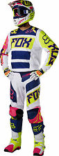 NEW 2017 FOX RACING ADULT 180 RACE GEAR COMBO FALCON NAVY JERSEY PANTS MX ATV