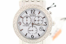 Ladies Citizen FB1290-58A Eco-Drive Stainless Crystal Accented Chronograph Watch