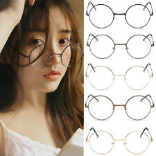 Classic Retro Unisex Metal Frame Clear Round Lens Glasses Spectacles Eyeglass