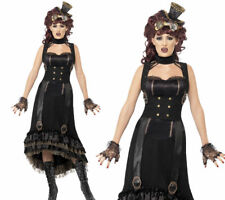 Steam Punk Vamp Costume Ladies Halloween Medieval Fancy Dress