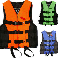 Polyester Adult Life Jacket Universal Swimming Boating Ski Vest+Whistle WF