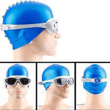 Swimming Waterproof Anti-fog UV Silicone Protected Goggles Glasses 1PCS