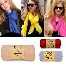 Fashion Women Lady Long Neck Scarf Scarves Wrap Soft Stole Shawl Candy Color mh