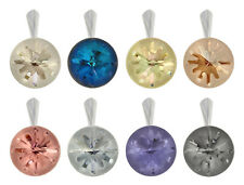 Sterling Silver Sea Urchin Pendants with SWAROVSKI 1695 14mm Round Crystals