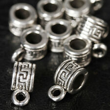 Wholesale Antique Silver PL Hanger Bead / Tube Spacer Beads DIY Jewelry Findings