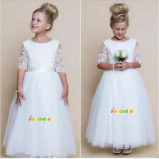 Wedding dress Party dress Formal Flower Girls Dress baby Pageant white Ivory