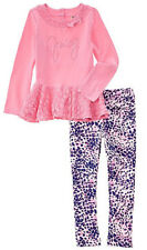 Juicy Couture Toddler Girls Pink Laced Tunic 2pc Legging Set Size 2T 3T 4T