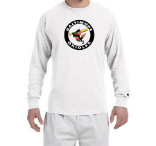 Baltimore Orioles Throwback Champion LONG SLEEVE T-Shirt Tagless T Shirt Mens