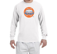 Houston Astros Throwback Champion LONG SLEEVE T-Shirt Tagless T Shirt NEW