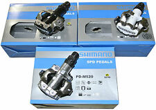 Shimano Pedal PD-M520, Clip-in Pedal, SPD System in black / white / silver