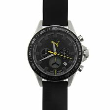 Puma Mens Cyclone Chrono Watch Large Dial Face Date Window Accessories