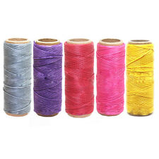 50M 1mm Waxed Wax Cotton Cord String Linen Thread Wire Jewelry Bracelet Make