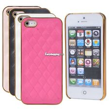 Cute Synthetic Leather Face Hard Skin Case Cover For Apple iPhone 5 5S 5G ES9P